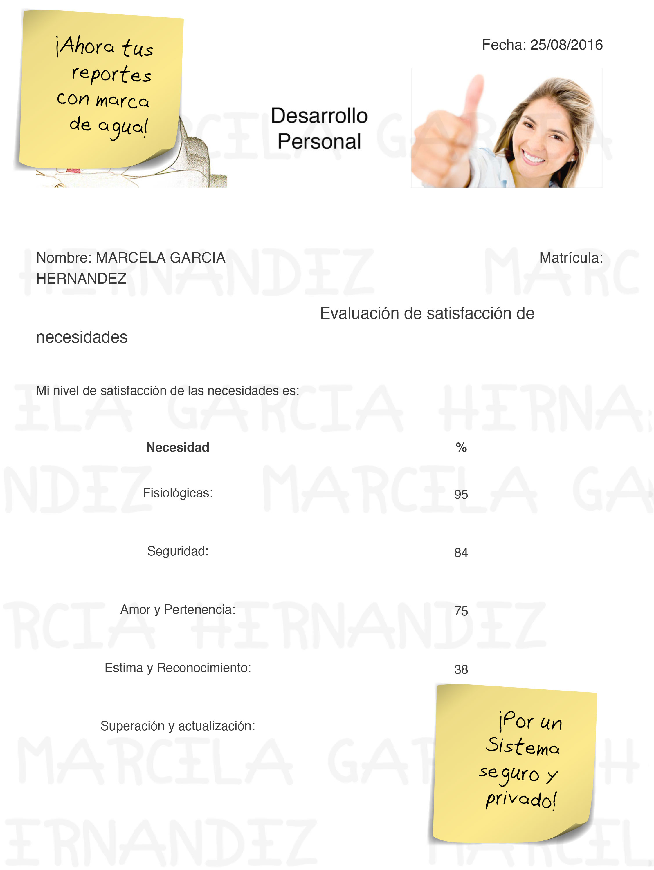 Sistema de desarrollo personal, desarrollo personal México, reportes digitales, portafolio digital, autoconocimiento